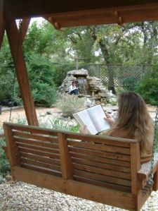 Woman reading, Woman on swing, woman by pond, Bible reading, Books, Faith, Adoption, Parenting