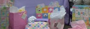 baby shower, birthday party, adoption party, baby gifts