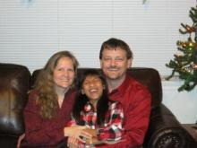 laughing family, giggling girl, transracial adoption