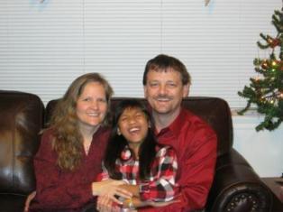 laughing family, giggling girl, transracial adoption