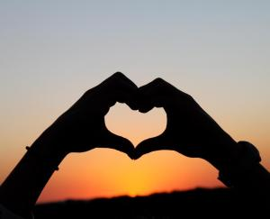 heart sunset, heart hands, heart for adoption, God's love, heart for orphans