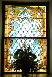 stained-glass window, church window