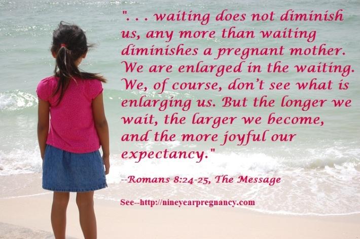 seaside, waiting, girl on beach, adoption, prayer, scripture, Romans 8
