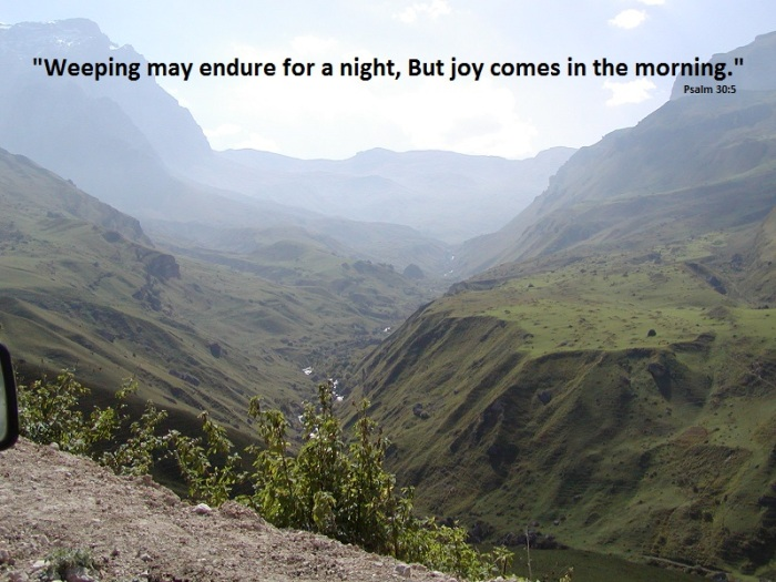 mountainside, valley, sunrise, morning, joy, adoption, waiting, weeping