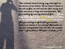 shadows, timing, faith