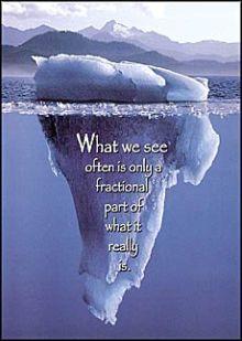 below surface, iceberg, glacier, ice