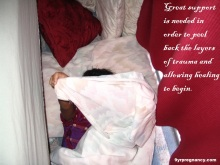 adoption, older child, adopted, trauma, resources, hiding in blanket